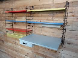 vintage dutch metal wall shelving by ad dekker for tomado s