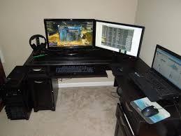 um size of computer desk 29 staggering paragon gaming desk pictures ideas staggering paragon gamingk