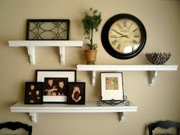 picture and shelves on wall together | It all started after being inspired  by Thrifty Decor
