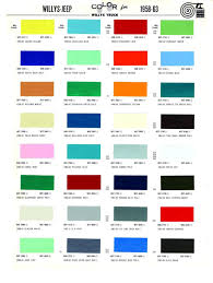 1963 Color Palette Google Search Paint Charts Jeep