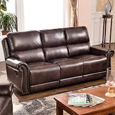 harper bright designs sectional recliner sofa set brown 3 seat recliner