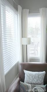 wood blinds and curtains. Brilliant Wood Family Room Window Treatment Makeover  How To Choose And Install GORGEOUS  Double Bevel Edge Horizontal Blinds With The Classic Look Of Shutters But NO Big  Throughout Wood Blinds And Curtains