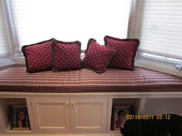 window seat furniture. Spiffy Hand Crafted Red Window Seat Cushions Added Storage As Well Blinds Windows Treatment Tips Furniture