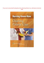 Ebook Nursing Know How Charting Patient Care Pdf Book