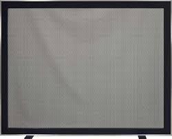 nolita freestanding screen in brushed nickel steel with perforated metal
