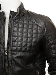 biker leather jacket in black combpyne men jackets