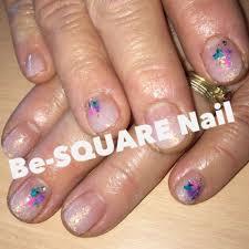 Be Square Nailさんのネイルデザイン フラワーネイル押し花ネイ