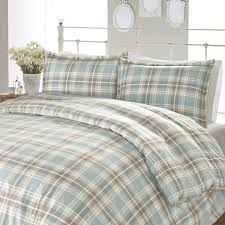 laura ashley cranbourne plaid flannel 3 piece duvet cover set