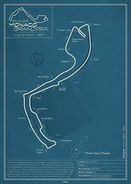 Monaco Track Map Poster By Peter Dials