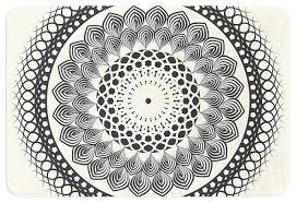 famenxt black and white boho mandala geometric memory foam bath black and white bathroom rugs black