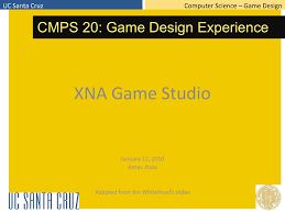 Uc Santa Cruz Computer Science Game Design Jan112010