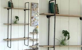 black metal wood wall shelf metal wood shelf ikea