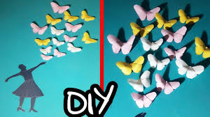 Diy How To Make Beautiful Girl With Flying Butterfly Using Chart Paper Easy To Make Step By Step