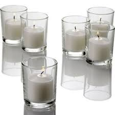 12pk mini tapered cylinder shot glass tealight votive candle holders