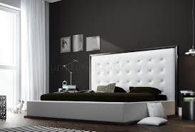 Leather Bedroom Furniture Ludlow White Leather Bedroom Set By Modloft