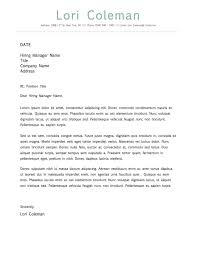 Cover Letter Template Microsoft Word Cv Cover Letter Ms Word