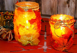 how to make easy fall leaf candle mason jar crafts easy diy fall candle jar