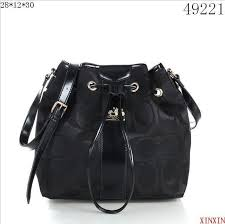 Coach Drawstring Medium Black Shoulder Bags 51541