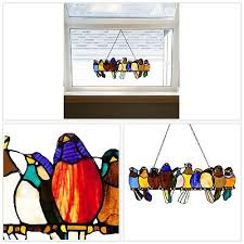 wire window panel multi colored glass hanging hardware included wall decor new
