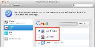 calendars with notes sync mail calendars notes from mac os x to android phones tablets