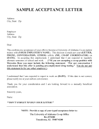 Excellent Job Offer Acceptance Letter Sample With Applicant