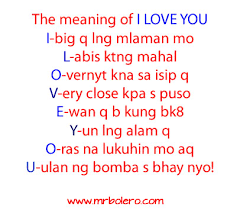 Tagalog Love Quotes The Meaning Of I LOVE YOU Enchanting What Meaning Of Love