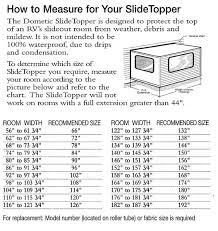 Dometic Slide Topper Size Chart Measuring For Awnings Mobile Rv Awnings Sales Parts