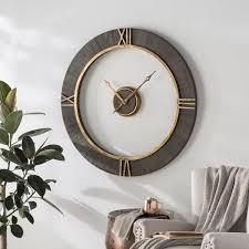 clock decor oversized wall clock