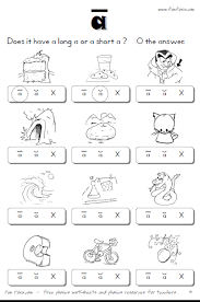 Short And Long Vowel Worksheets For First Grade Worksheets for all ...