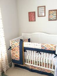 mini bedding crib set navy gold mint and cream baby boy tribal crib set  tribal baby