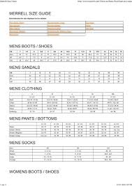 Merrell Kids Size Chart Merrell Size Chart Cham3s