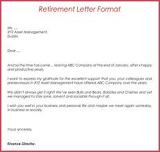 Retirement Letter Letter Of Retirement Samples Resignation Retirement Letter Sample Uk