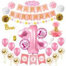 Details About Happy First Birthday Balloons Set Boy Girl Favor Gift Party Decor Letter Banner