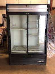 true gdm used 2 door sliding glass refrigerator cooler used 1 of 6only 1 available