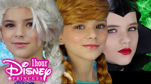 tutorial 1 hour disney princess makeup frozen elsa anna maleficent inside out disgust more kittiesmama