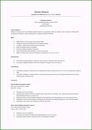 Teacher Resume Objective Sample Preschool Teacher Resume Sample Stunning Preschool Teacher