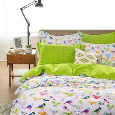 bedding set 4pcs lovely birds owl for queen size 100 cotton duvet cover bed quilt