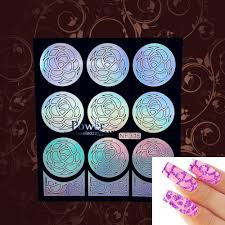 Airbrush Designs Us 0 85 5 Off Airbrush Nail Art Paint Sexy Image Tips French Fan Designs Nail Manicure Art Full Nail Decal Sticker Floral Guides Stencil In Stickers