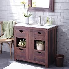 cabarnet 36 reclaimed weathered oak single sink bath vanity cabinet