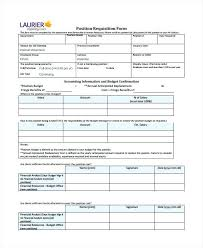 Position Requisition Form Template Job Employee Example – Spiritcubeapp
