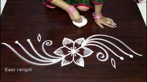 Side Rangoli Designs Images Creative And Easy Rangoli Side Designs Muggulu Side