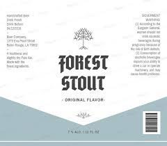 Ingredients Label Template Craft Beer Label Template For Stout Beer 764c