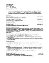 Sample Counselor Resume Template