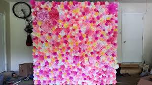 Flower Wall Flower Wall Backdrop Weddingbee