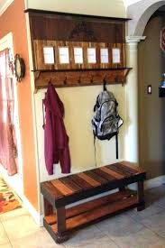 entryway bench with rack shoe entryway bench coat rack plans
