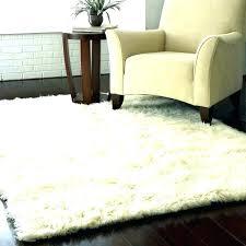 large fur rug black faux