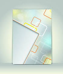 cover page design template abstract vector