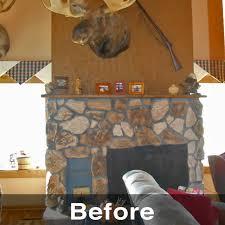 prairie du chien wi wood fireplace remodel