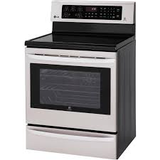 LG LRE3027ST 30-Inch Smart ThinQ Single Oven Electric Range ...