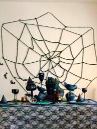 How To Make A Giant Spider Web Diy Halloween Spider Web Decoration Diy